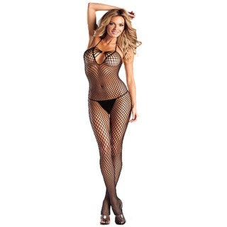 Women's Black Diamond Net Bodystocking