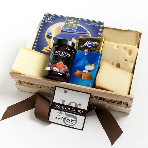 Igourmet A Gourmet Taste of Switzerland Gift Crate