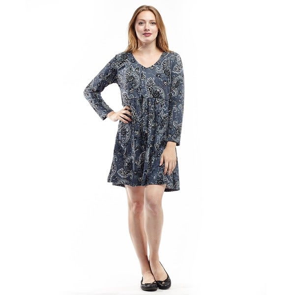 La Cera Women's Long-Sleeve Printed Knit Top