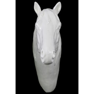 Porcelain White Gloss Horse Head Wall Decor