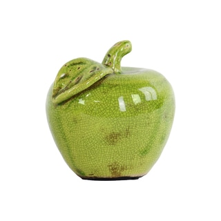 Urban Trends Olive Ceramic Small Apple