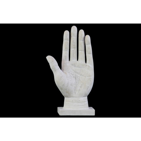 Matte White Polyresin Palmistry Hand Sculpture