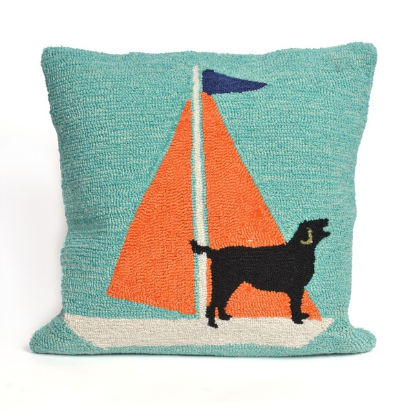 Canine Captain 18-inch Throw Pillow