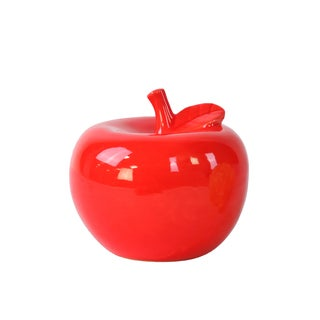 Ceramic Apple Figurine SM Gloss Red