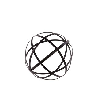 Black Metal Decorative Dyson Sphere Orb