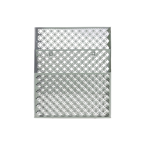 Mesh Design Dual-slot Metal Wall Organizer