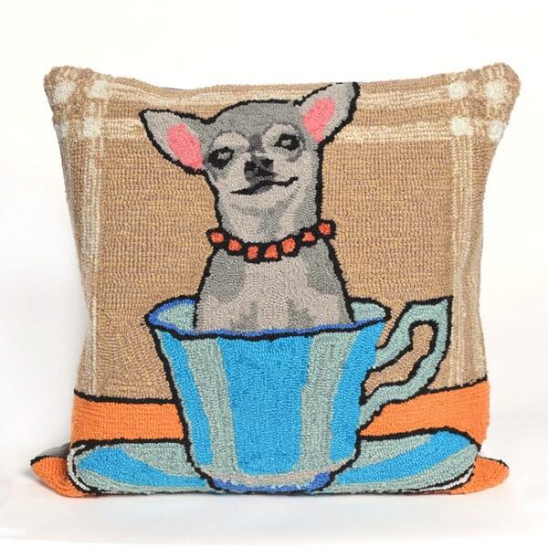 Tea Cup Pup 18-inch Throw Pillow