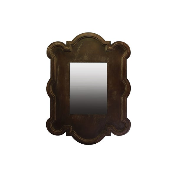 Wooden Wall Mirror Brown
