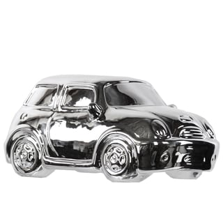 Ceramic Decorative 2001 Mini Cooper R50 Car Replica PolishedChrome Silver