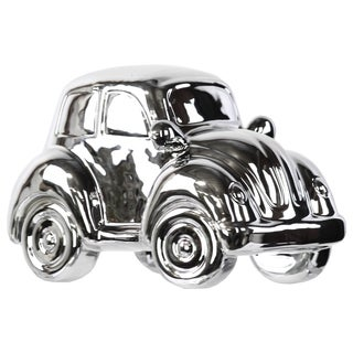 Ceramic Decorative 1973 Volkswagen 1303 Car Replica Polished Chrome Silver