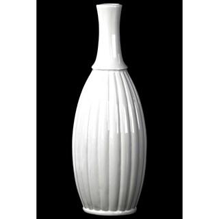 Gloss White Ceramic Large Flower Vase