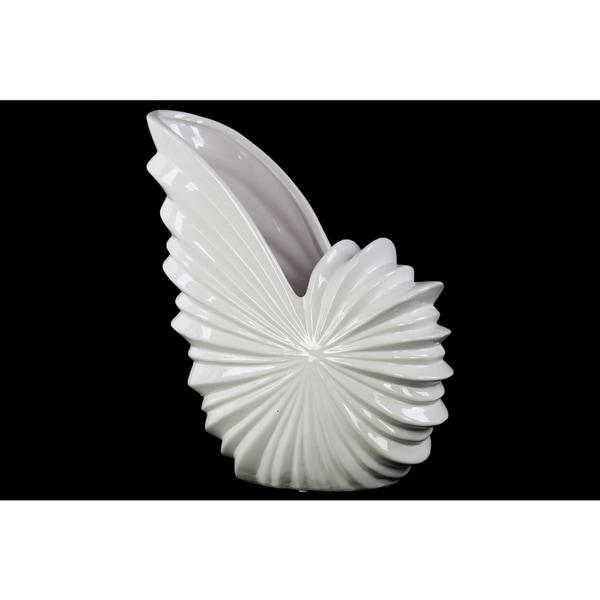 Ceramic White Shell Flower Pot