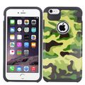 Insten Green/ Black Camouflage Hard PC/ Silicone Dual Layer Hybrid Rubberized Matte Case Cover For Apple iPhone 6 Plus/ 6s Plus
