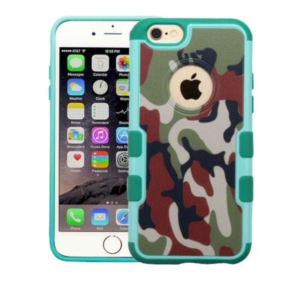 Insten Green/ Brown Camouflage Hard Snap-on Rubberized Matte Case Cover For Apple iPhone 6 Plus/ 6s Plus