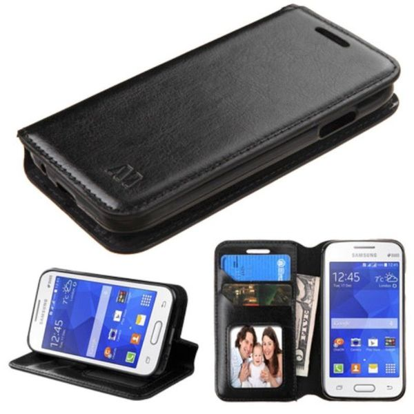 Insten Leather Case Cover with Stand/ Wallet Flap Pouch/ Photo Display For Samsung Galaxy Ace 4