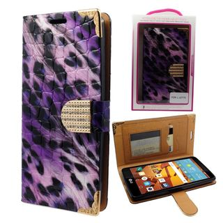 Insten Leopard Leather Case Cover with Wallet Flap Pouch/ Diamond/ Photo Display For LG G Stylo
