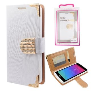Insten Leather Case Cover with Wallet Flap Pouch/ Diamond/ Photo Display For LG Destiny/ Leon/ Power/ Risio/ Tribute 2