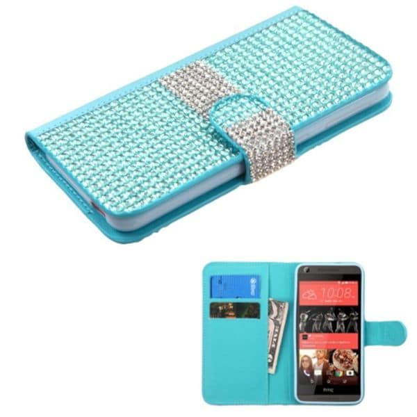 Insten Leather Rhinestone Bling Case Cover with Wallet Flap Pouch For HTC Desire 626/ 626s