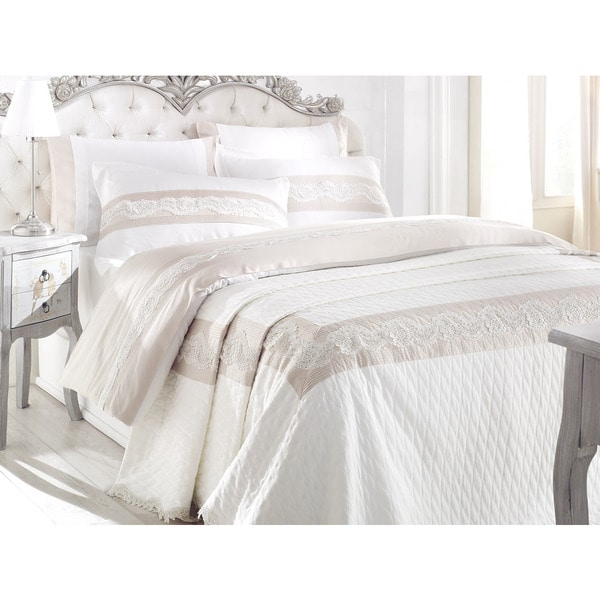Debage Inc. City Sleep 7-piece Lotus Queen Duvet Cover and Blanket Set