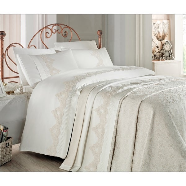 Debage Inc. City Sleep 7-piece Bistro Queen Duvet Cover and Blanket Set