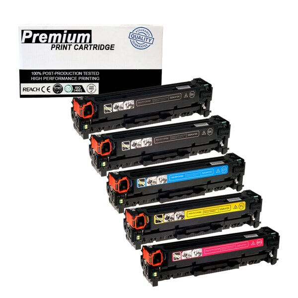 5-pack Compatible Canon 118 KKCYM Multi Color Toner Cartridge for Printers ImageClass LBP7200CDN MF8350CDN