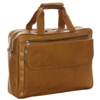 Piel Leather Slim Top Zip Briefcase