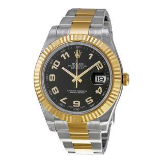 Rolex Unisex Datejust II Black Dial Watch