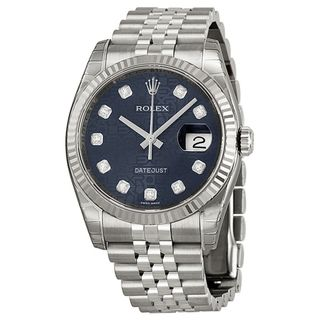 Rolex Men's Datejust Blue Dial Watch