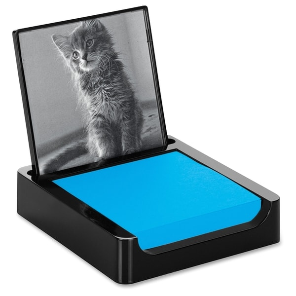 Post-it Note Holder with Photo Frame for 3 in x 3 in Notes, Black - 1/EA