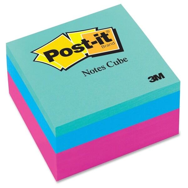 Post-it Pink Wave Convenient Memo Cubes - 400/PD