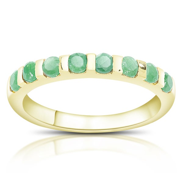 Dolce Giavonna Gold Over Sterling Silver Gemstone Ring