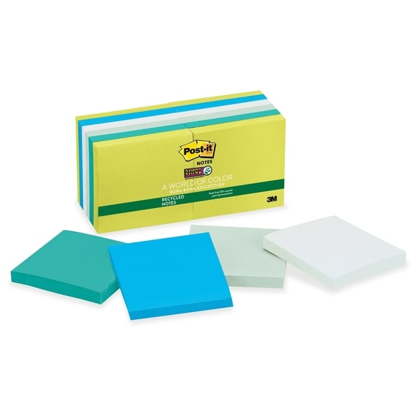 Post-it Super Sticky Bora Bora Notes - 12/PK