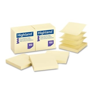 Highland Repositionable Pop-up Note - 12/PK