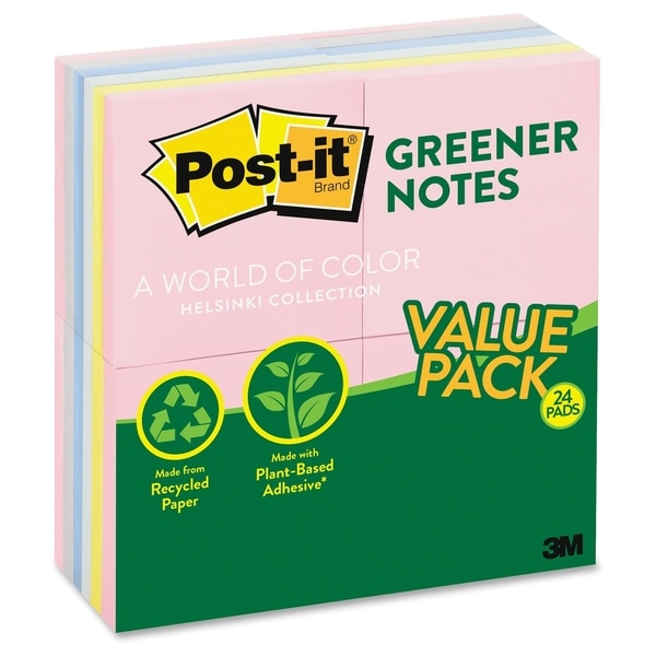 Post-it Helsinki Greener Recycled Value Pack - 2400/PK