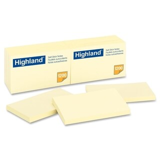 Highland Self-Sticking Note - 12/PK