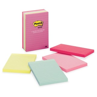 Post-it Value Pack Marseille Lined Notes - 500/PK