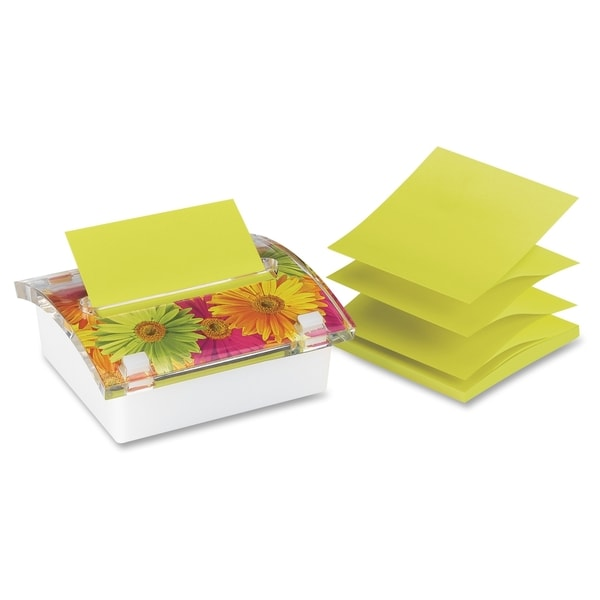 Post-it 3D Designer Note Pad with Dispensor - 1/EA