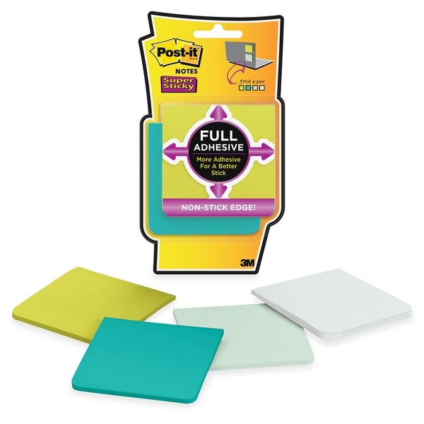 Post-it 3x3 Super Sticky Full Adhesive Notes - 100/PK
