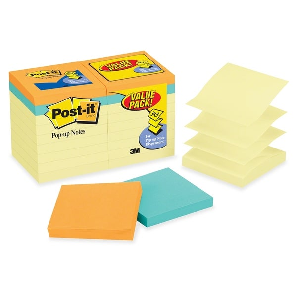 Post-it Pop-up Cape Town Value Pack - 18/PK