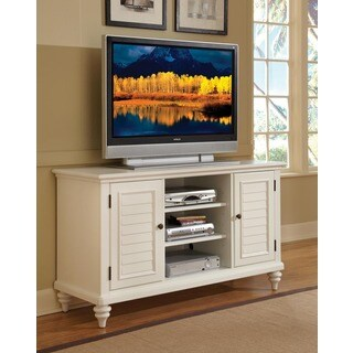 Home Styles Bermuda Brushed White TV Credenza