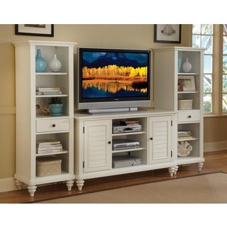 Home Styles Bermuda Brushed White 3PC Entertainment Center