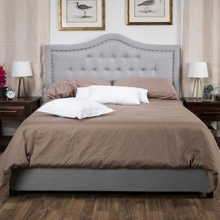 Christopher Knight Home Dante Upholstered Tufted Fabric Bed Set