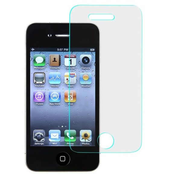 Insten Clear Tempered Glass LCD Screen Protector Film Cover For Apple iPhone 4/ 4S