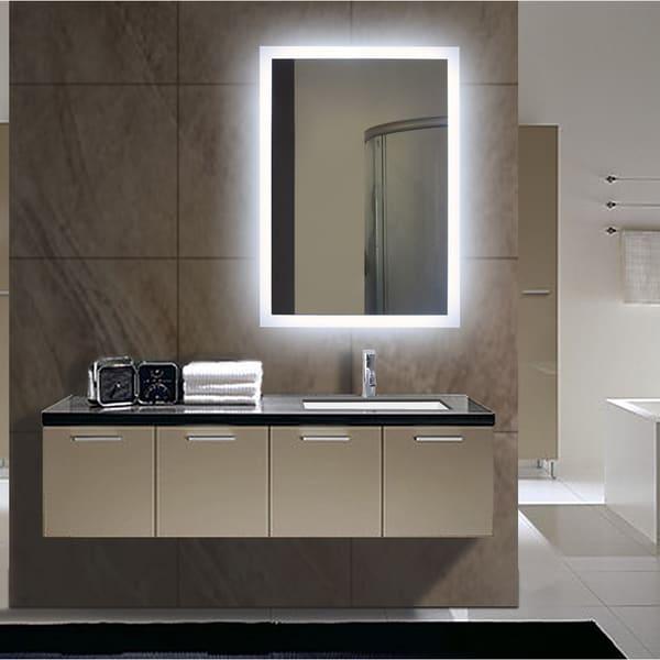Rectangular Backlit Small LED Mirror
