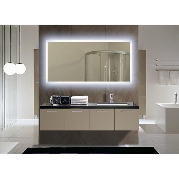 Rectangular Backlit Medium LED Mirror