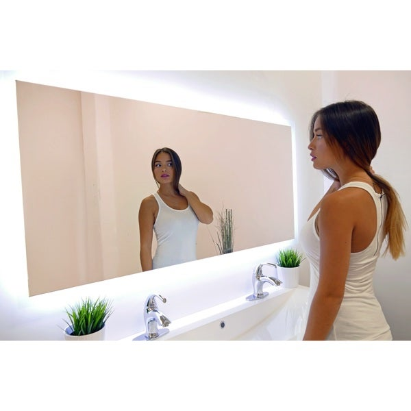 Rectangular Backlit Large LED Mirror