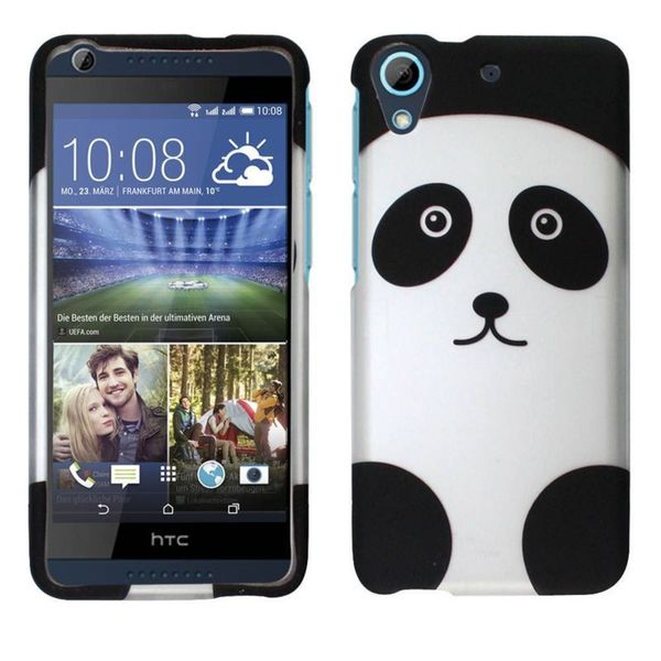 Insten Black/ White Panda Hard Snap-on Rubberized Matte Case Cover For HTC Desire 626/ 626s