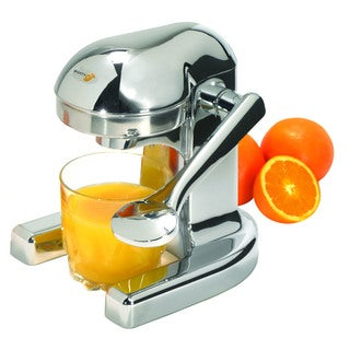 Metrokane Mighty OJ Manual Juicer, Chrome