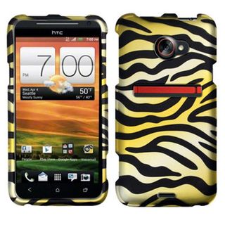 Insten Yellow/ Black Zebra Hard Snap-on Rubberized Matte Case Cover For HTC EVO 4G