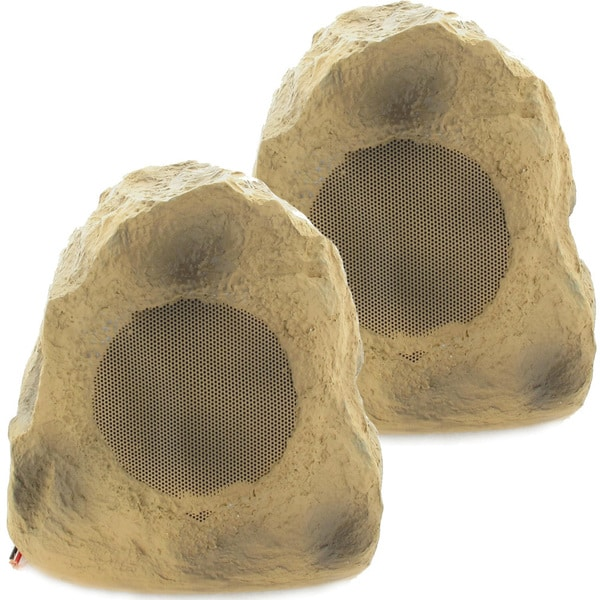 Acoustic Audio B4RS Brown 400-watts Indoor/ Outdoor Weatherproof Rock Speaker (Pair)